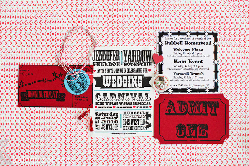 DIY Carnival Wedding Invitations Kelly Prizel