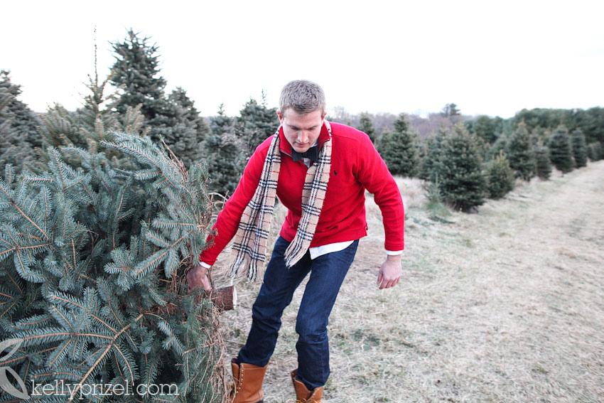 Christmas Tree Farm Engagement - Kelly Prizel