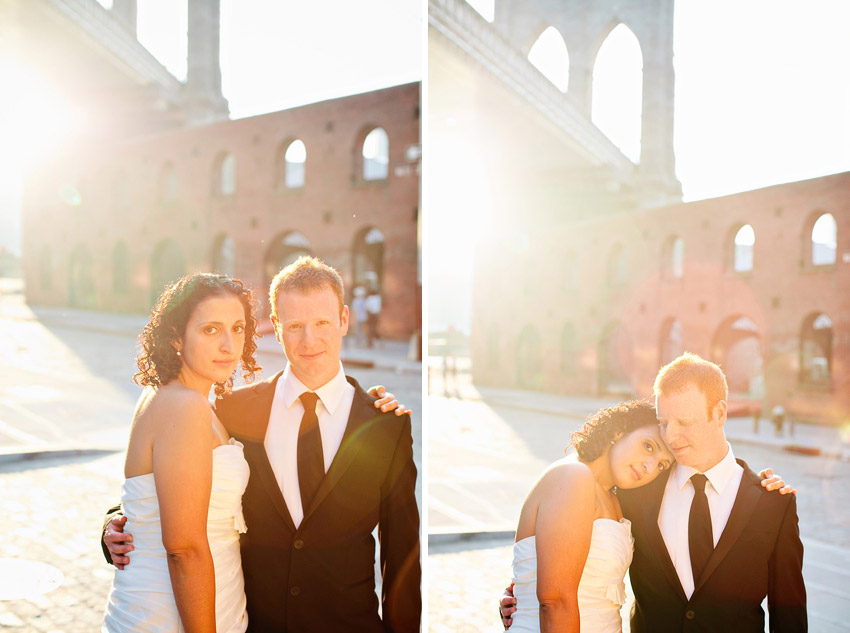 couple shots in dumbo with brooklyn bridge view