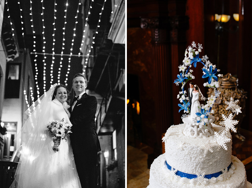winter wedding downtown new haven