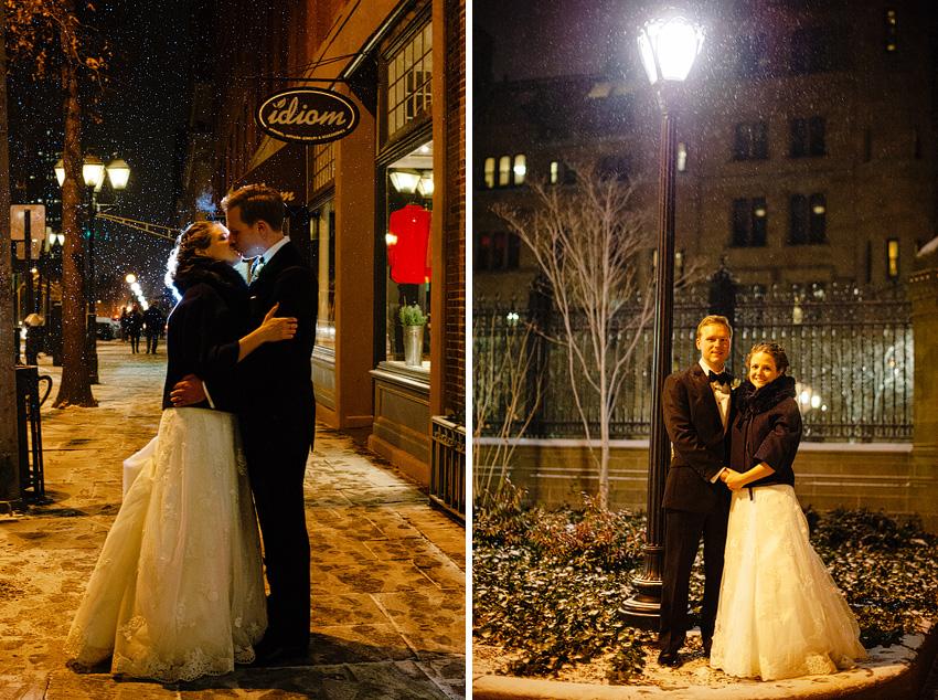 yale winter wedding