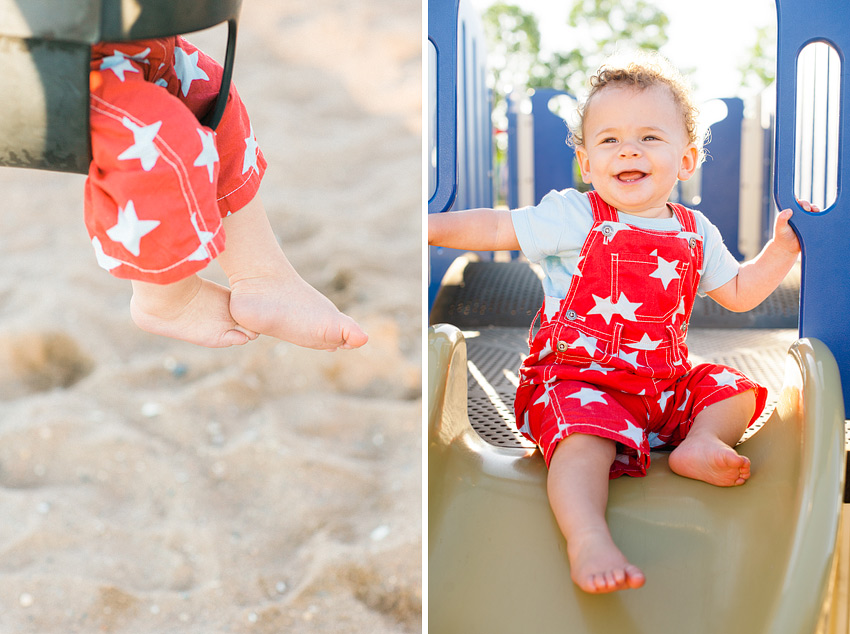 first birthday shoot at lighthouse point park