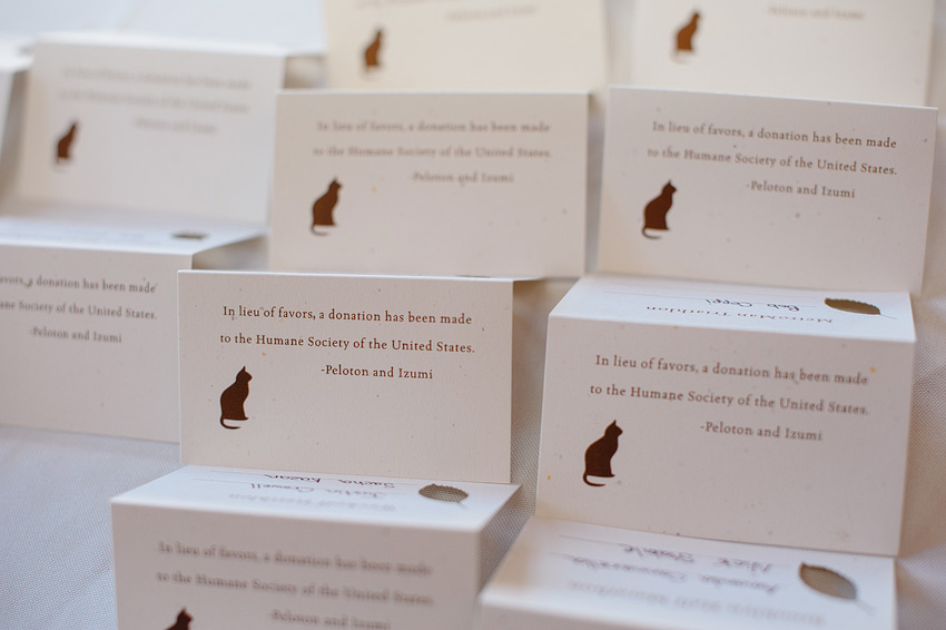 donation favor cards to humane society