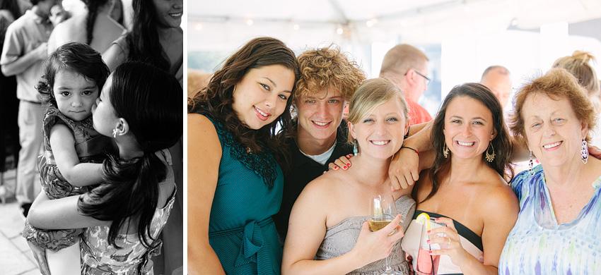 wedding guests outdoor wedding