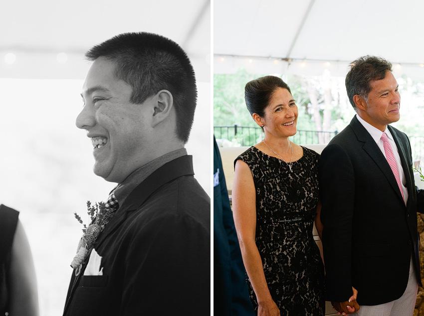groom backyard wedding ceremony