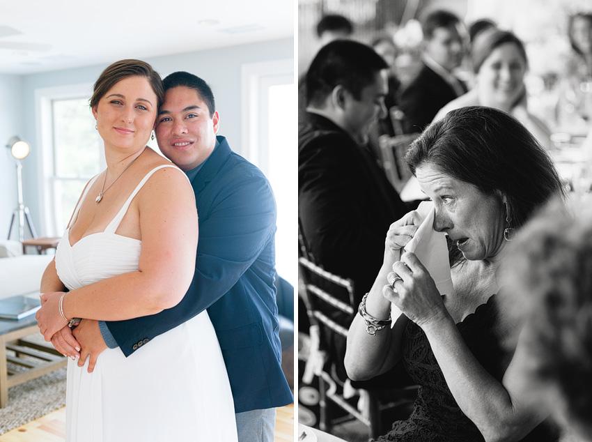 bride and groom mother wedding reception