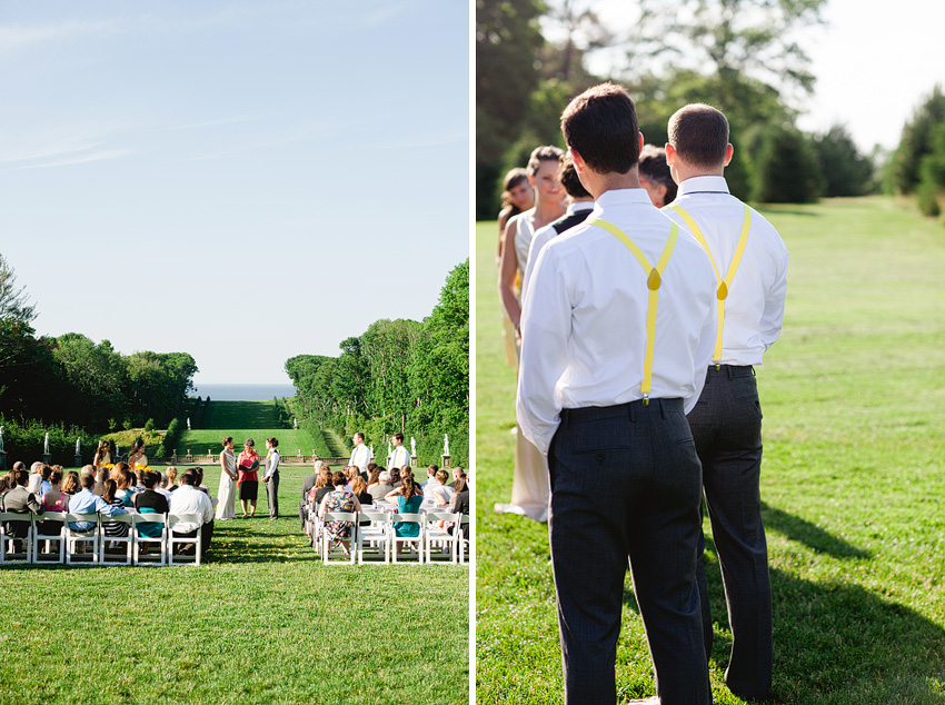 grand seaside estate wedding ceremony
