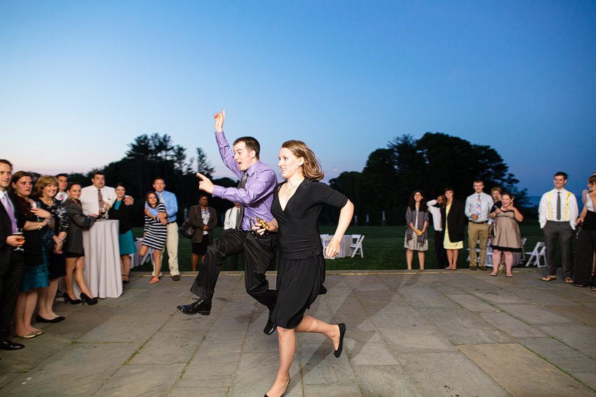 summer wedding guests dancing