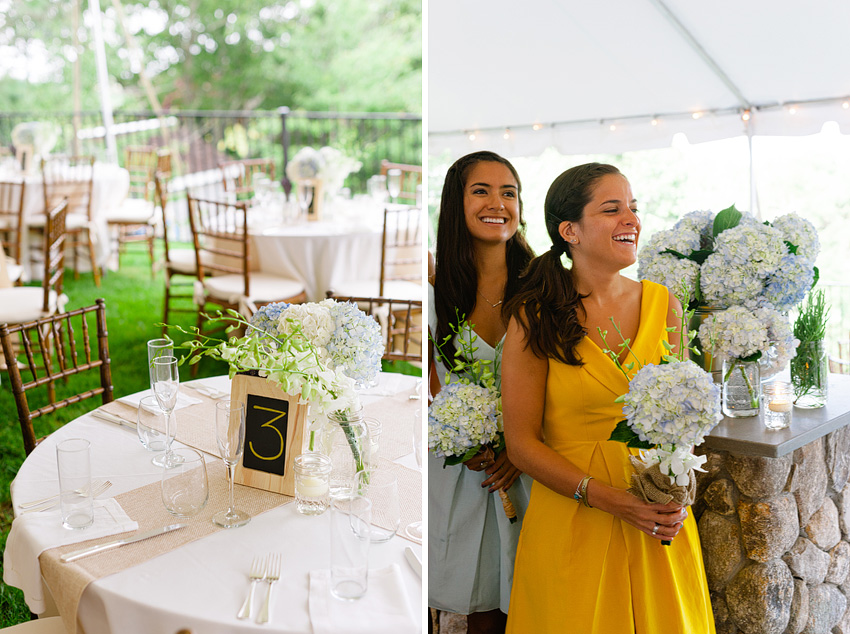 wedding reception table settings