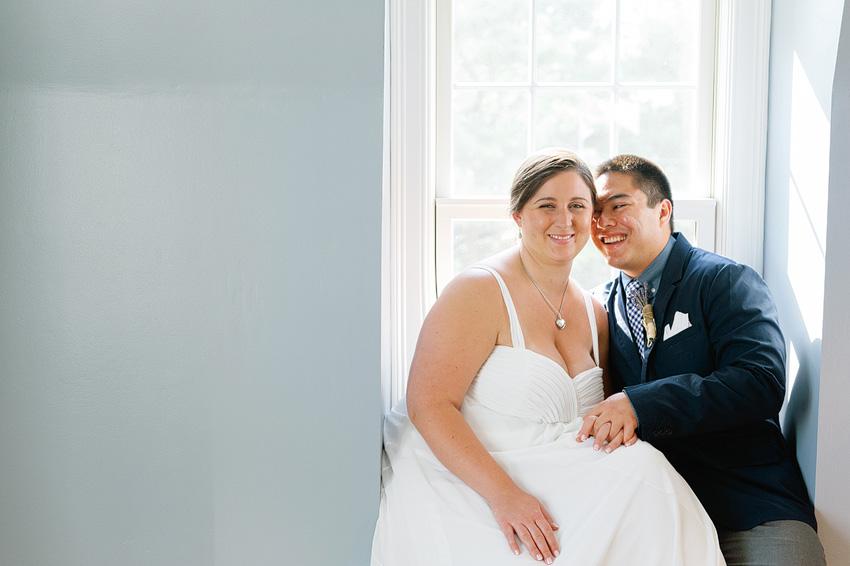 wedding couple in beach house