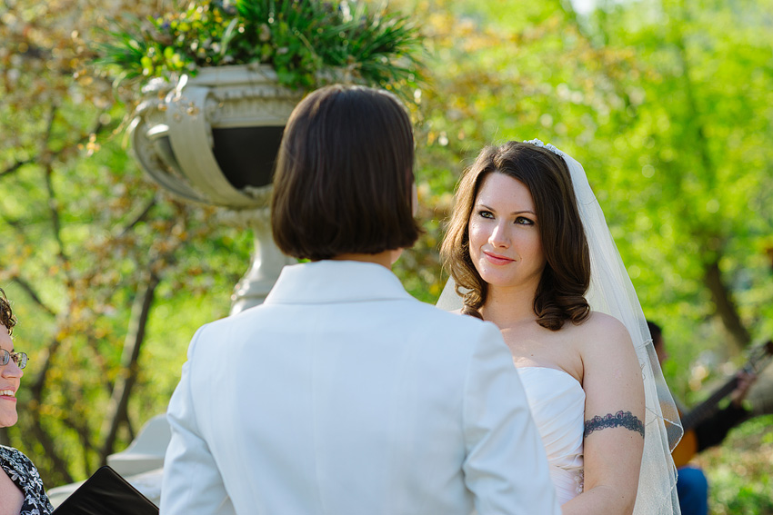 central park spring wedding