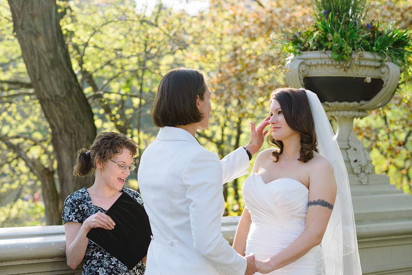lgbt wedding ceremony bow bridge