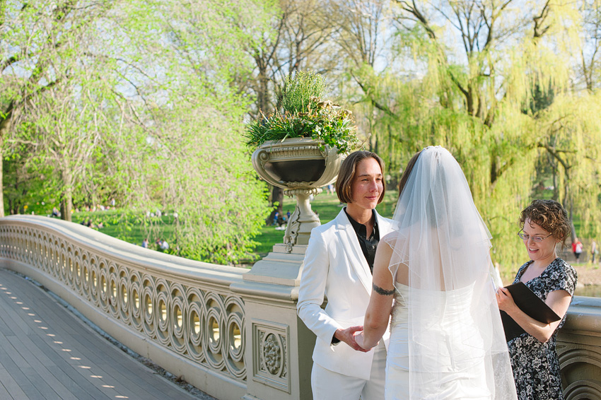 two brides elopement ceremony in central park