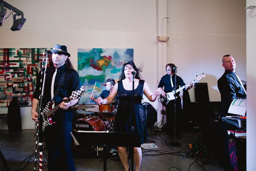 80s band playing at wedding reception