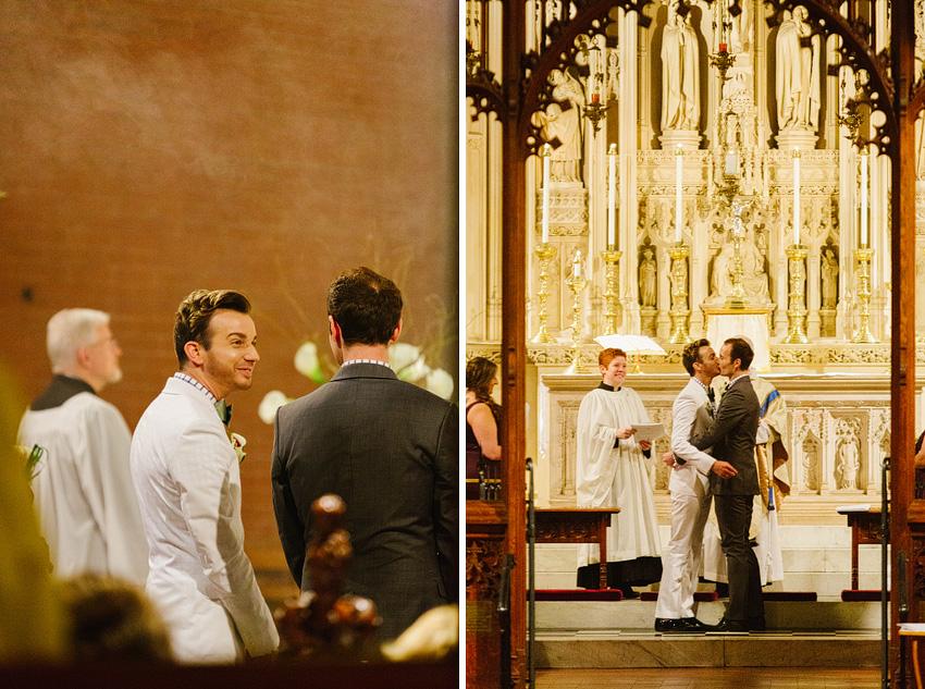grooms first kiss wedding