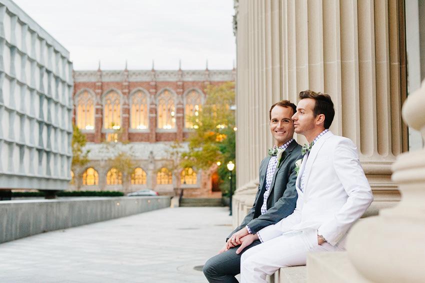 groom and groom outside