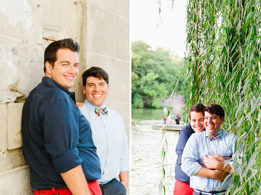gay guys holding each other for engagement shoot