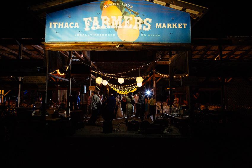 ithaca farmers market wedding reception