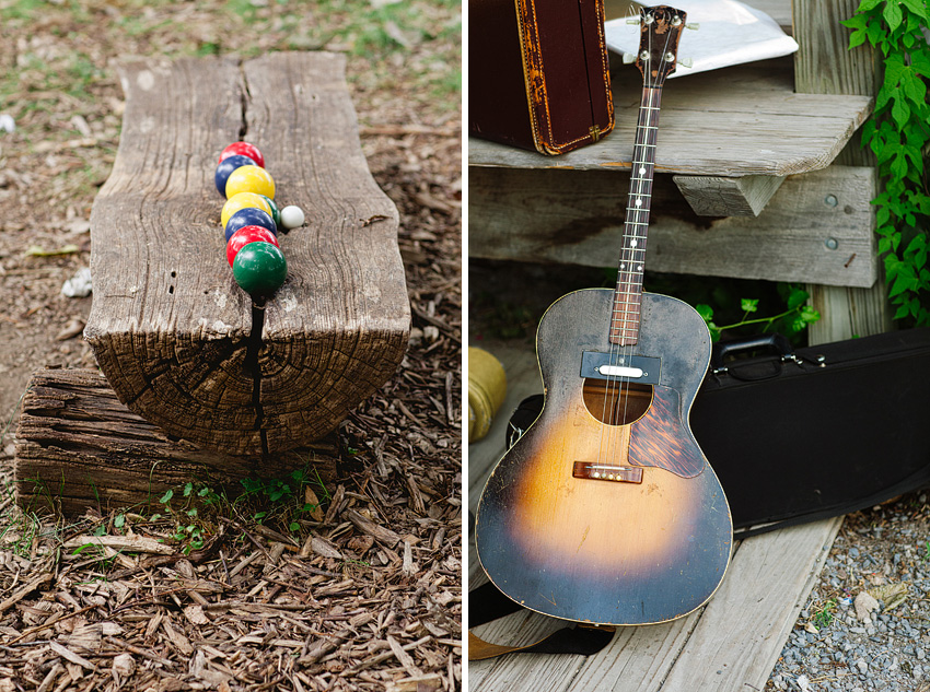 bocce ball and guitar