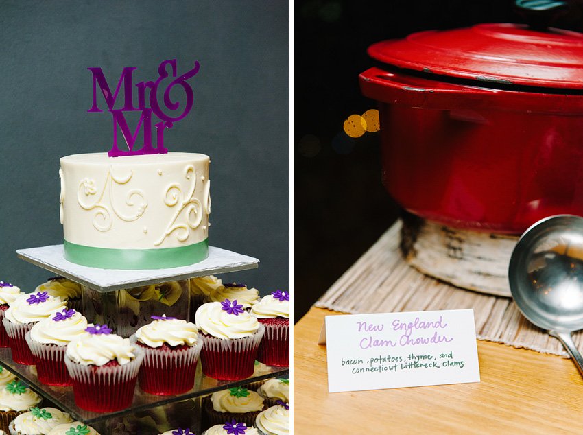 groom cake and reception dinner