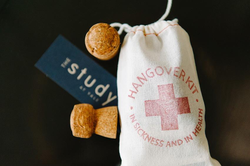 hangover supplies wedding