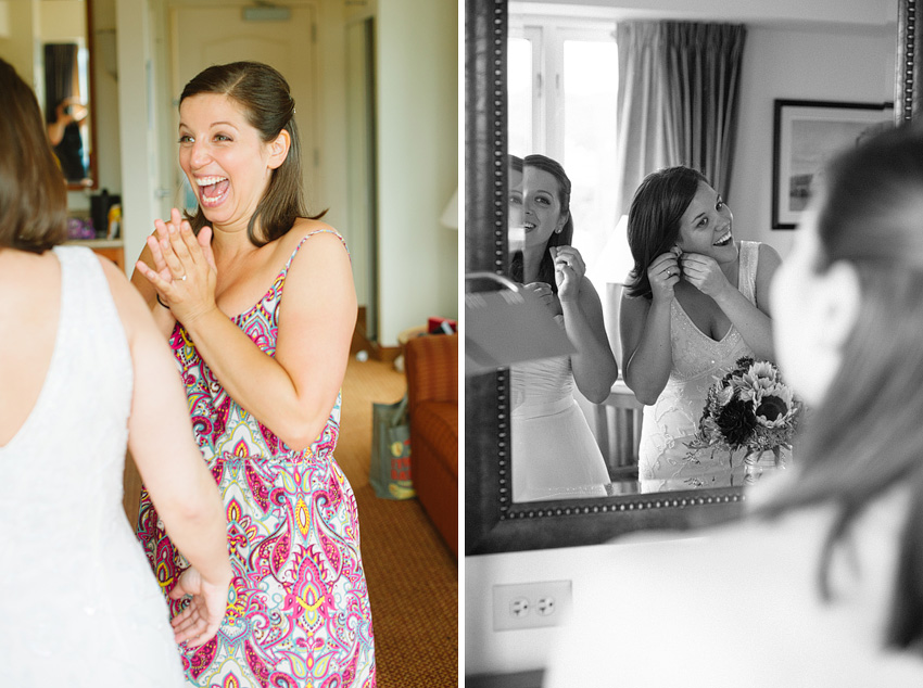 two brides getting ready
