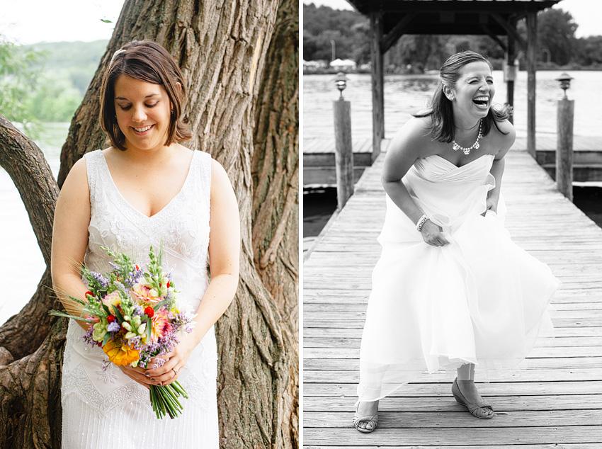 solo bridal portraits