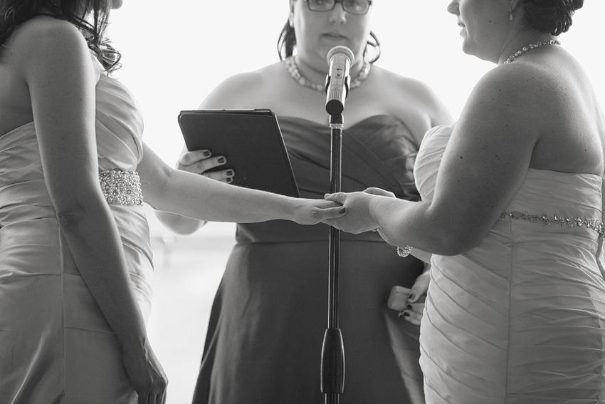 brides saying wedding vows