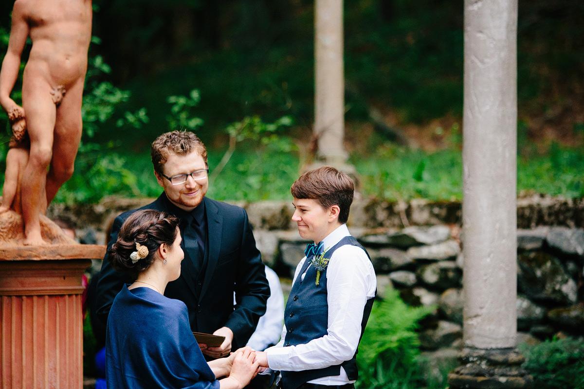 two brides during wedding reception at codman estate