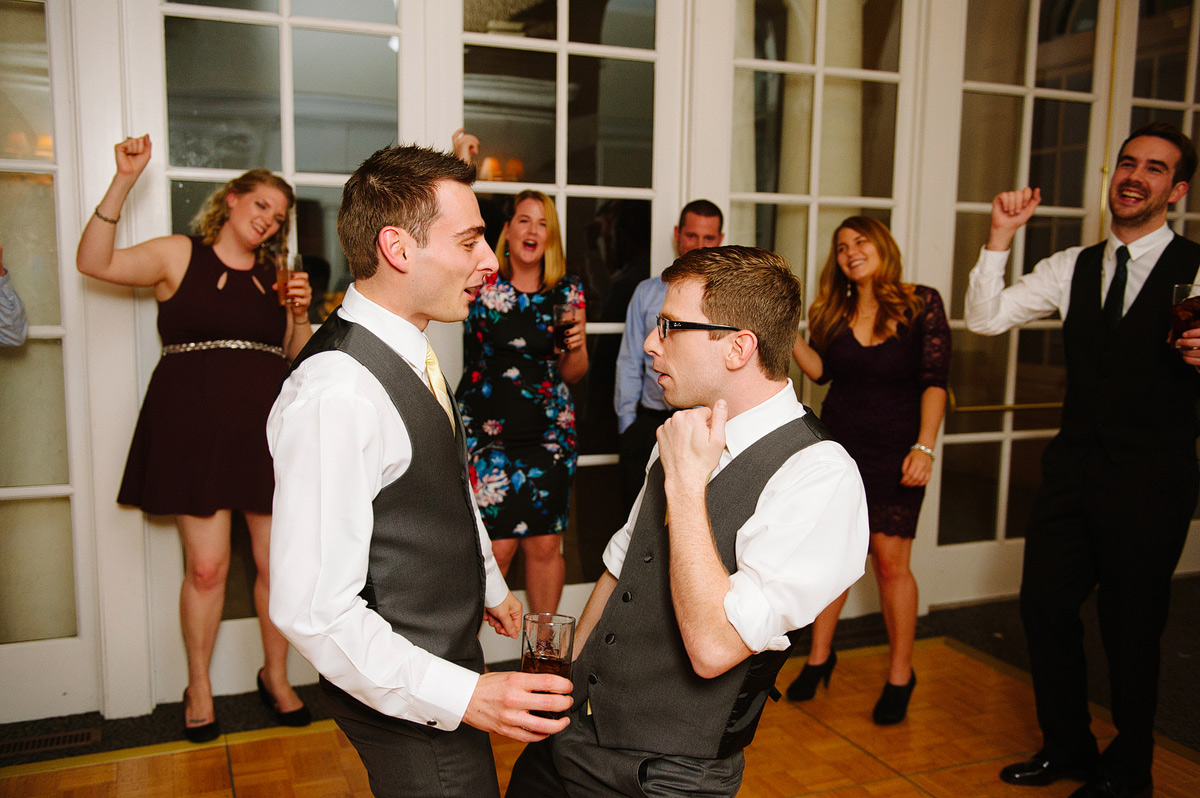 grooms dance at their reception