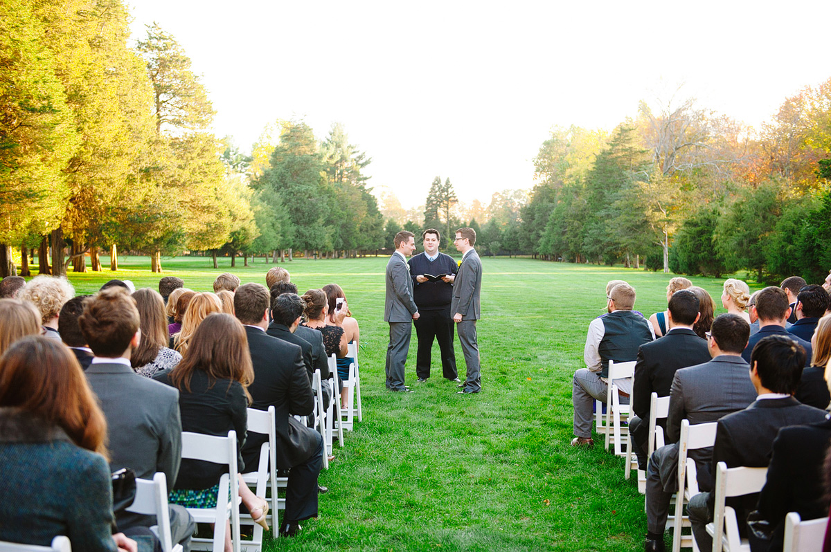 grooms at their ceremony