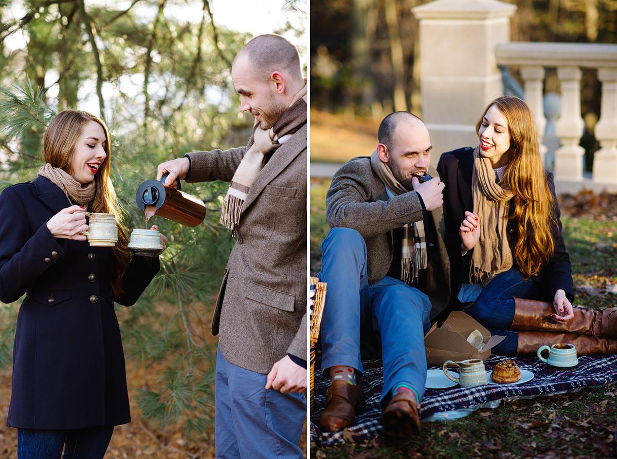 couple has picnic