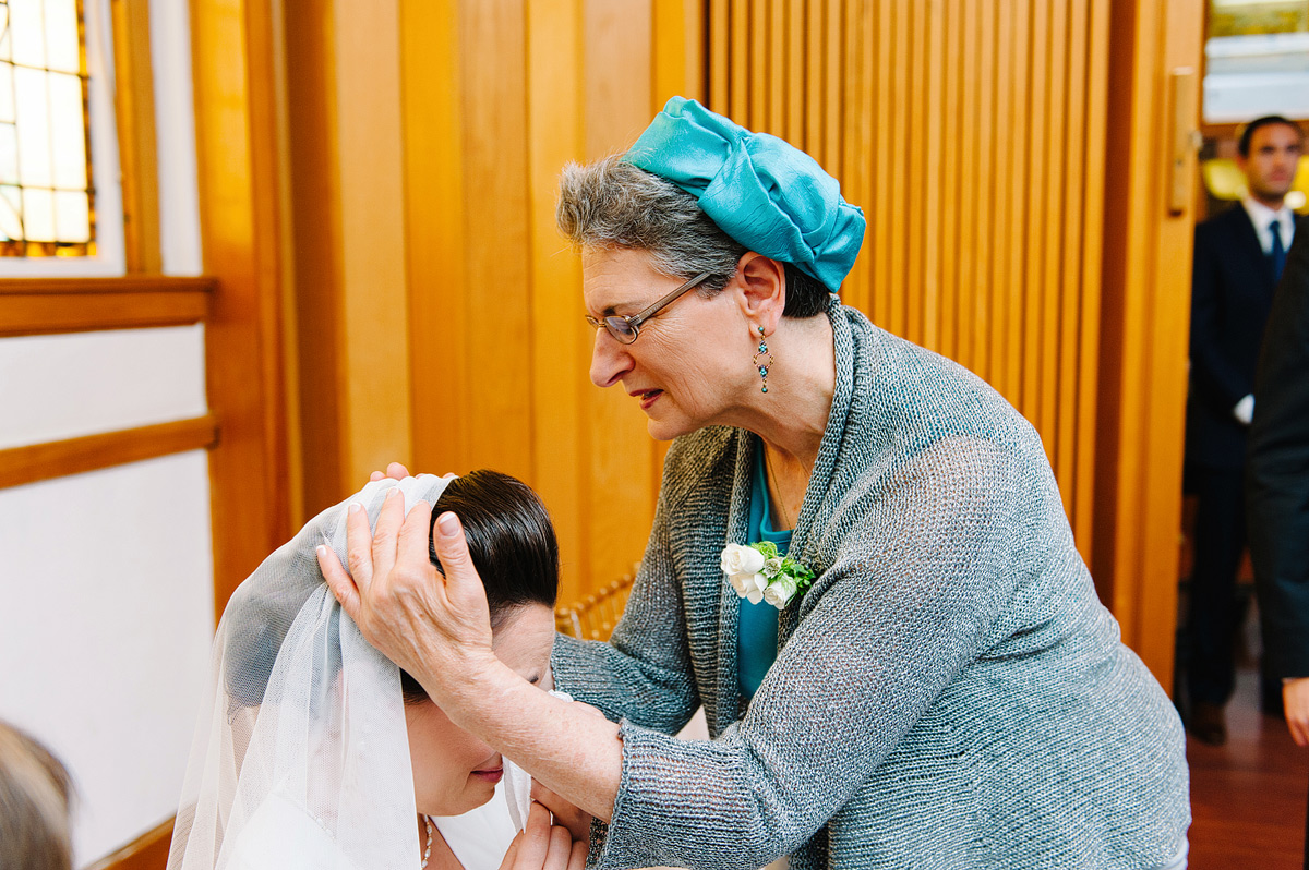 Jewish mother blesses the bride