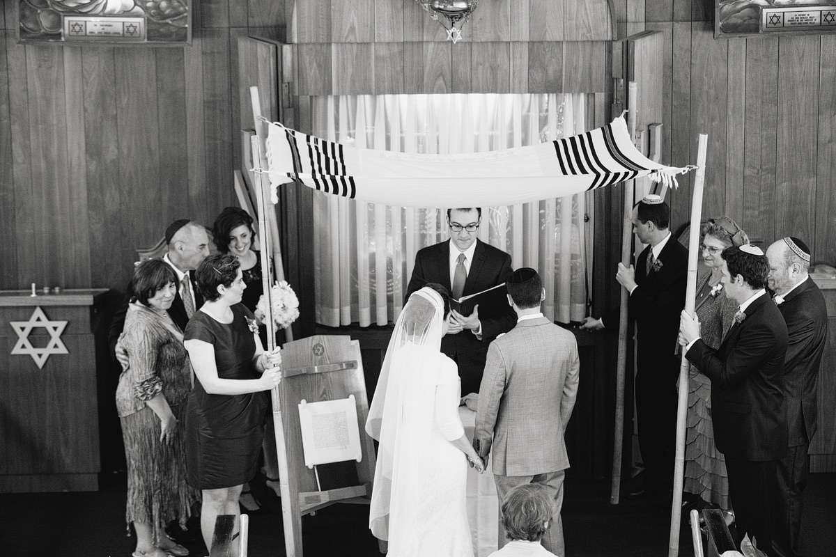 couple under chuppah