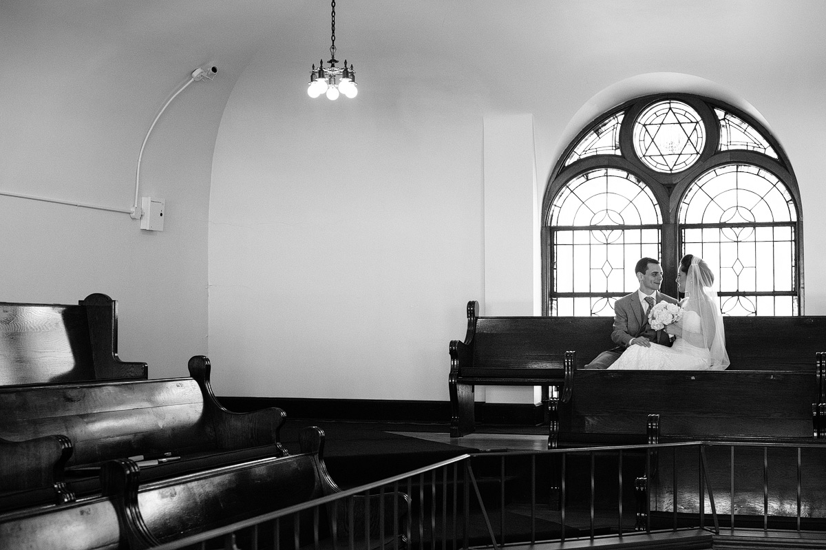 jewish couple in synagogue