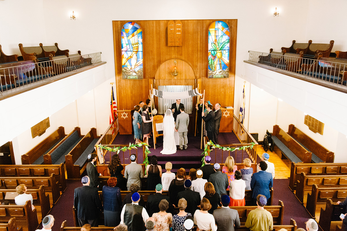 jewish wedding ceremony takes place
