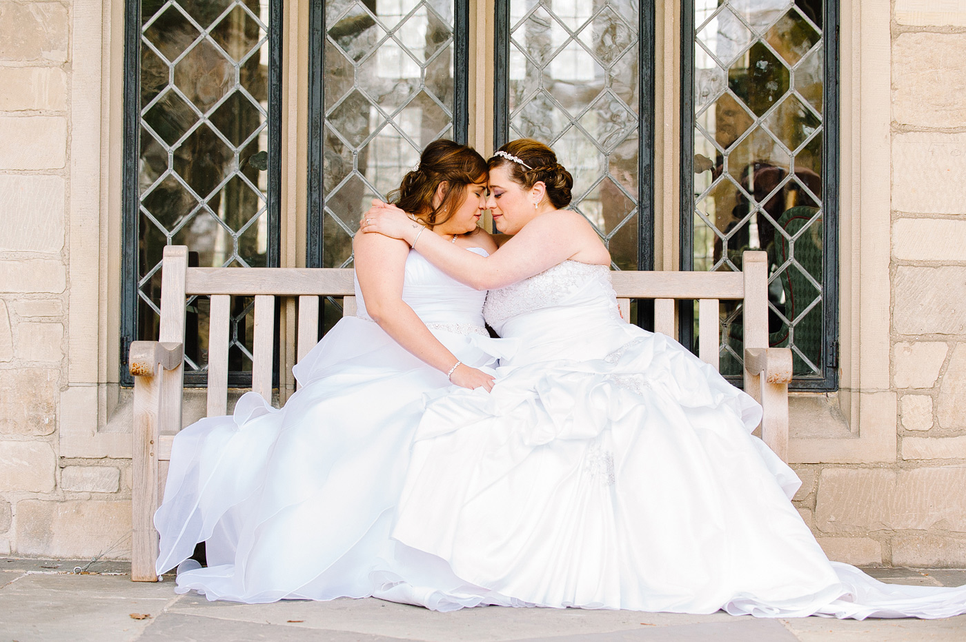 lesbian long island wedding with two dresses