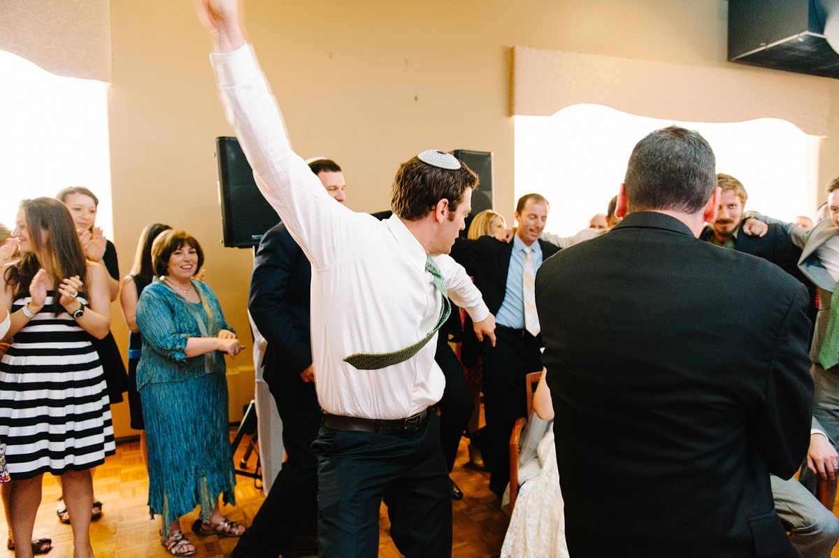 guests dance at Jewish wedding