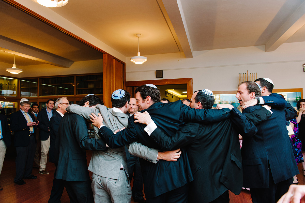 groomsmen during tisch ceremony