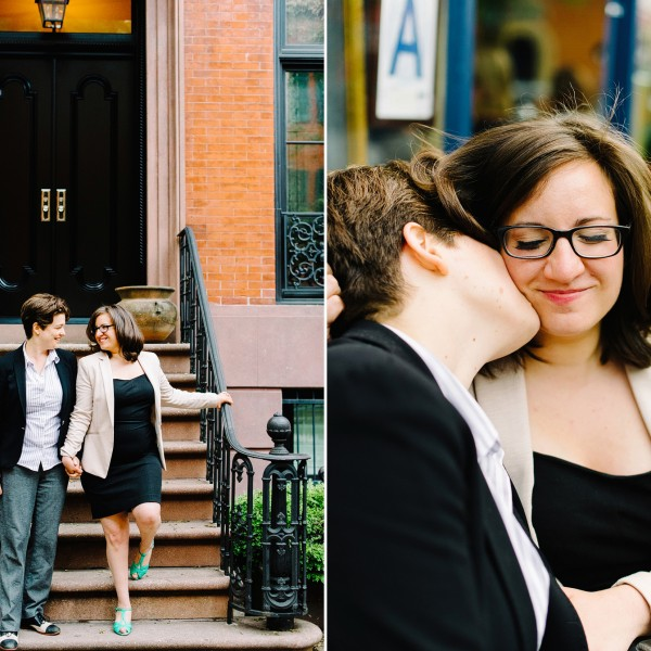 Summer Night Engagement Shoot in the West Village