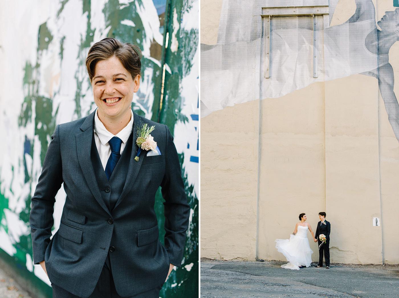 bride in suit