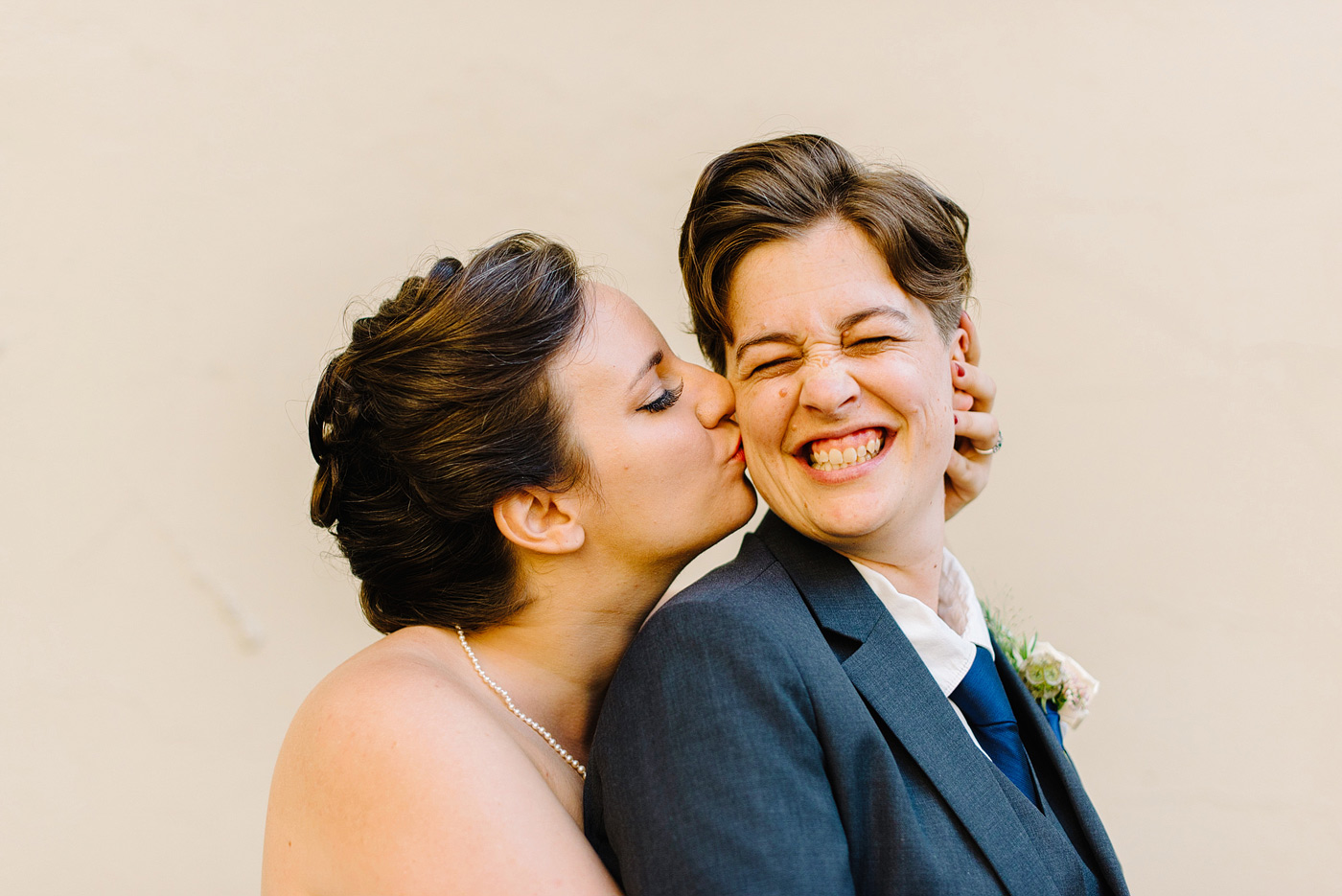 same sex new york offbeat wedding