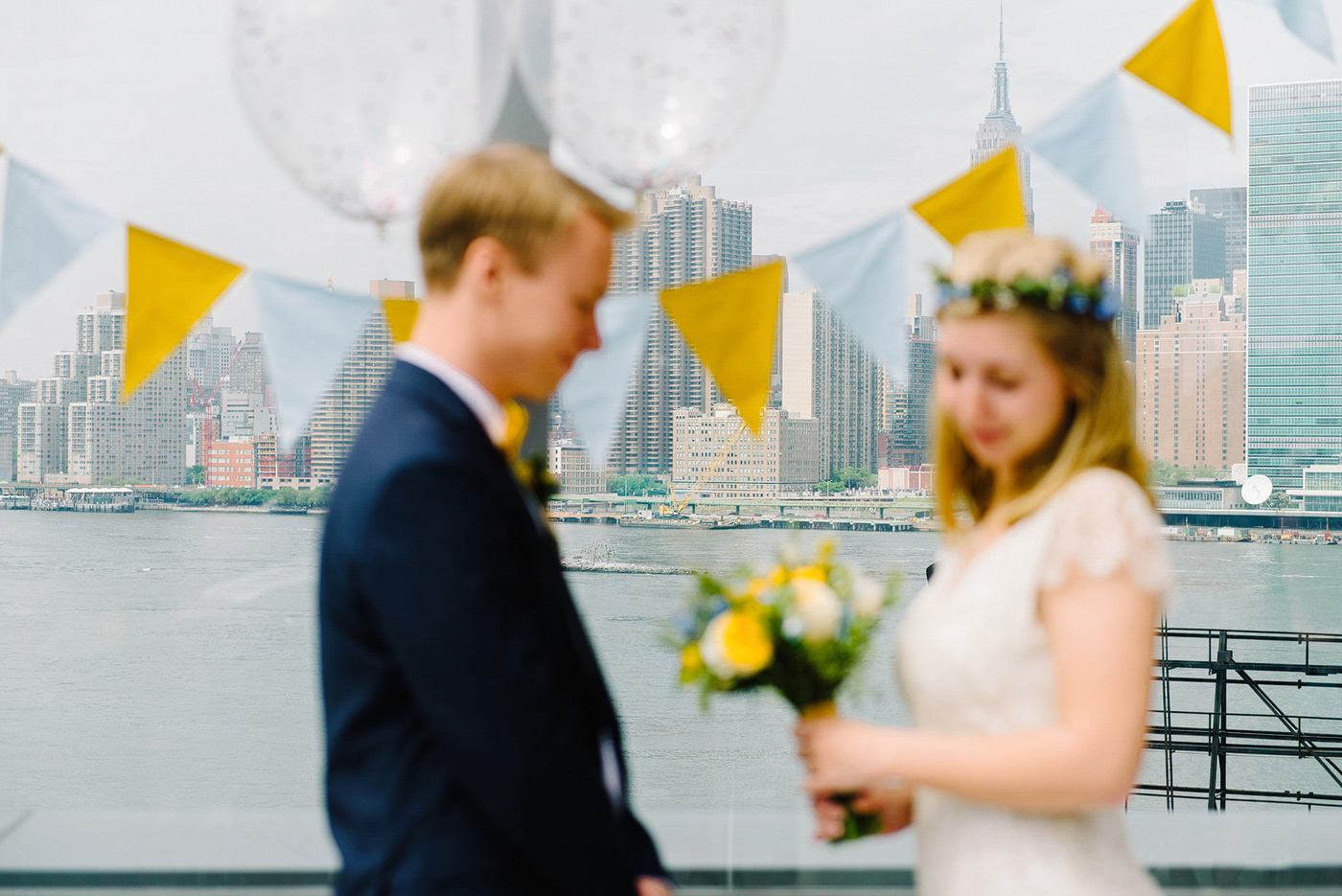elopement with new york skyline
