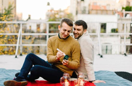 jewish gay couple smashing the glass