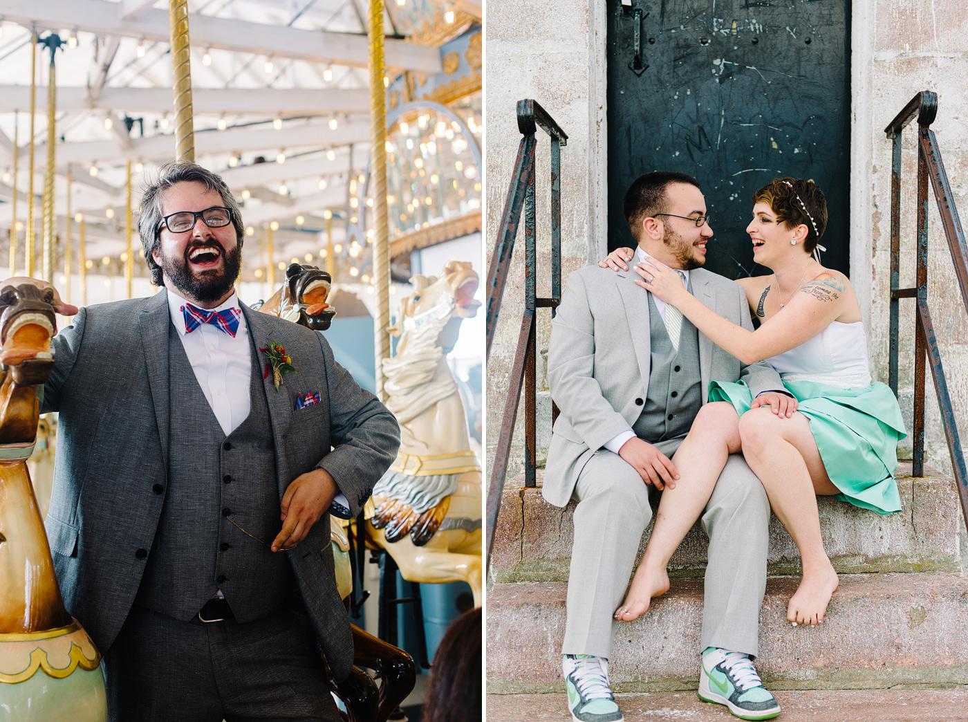 short-wedding-dress-on-connecticut-beach