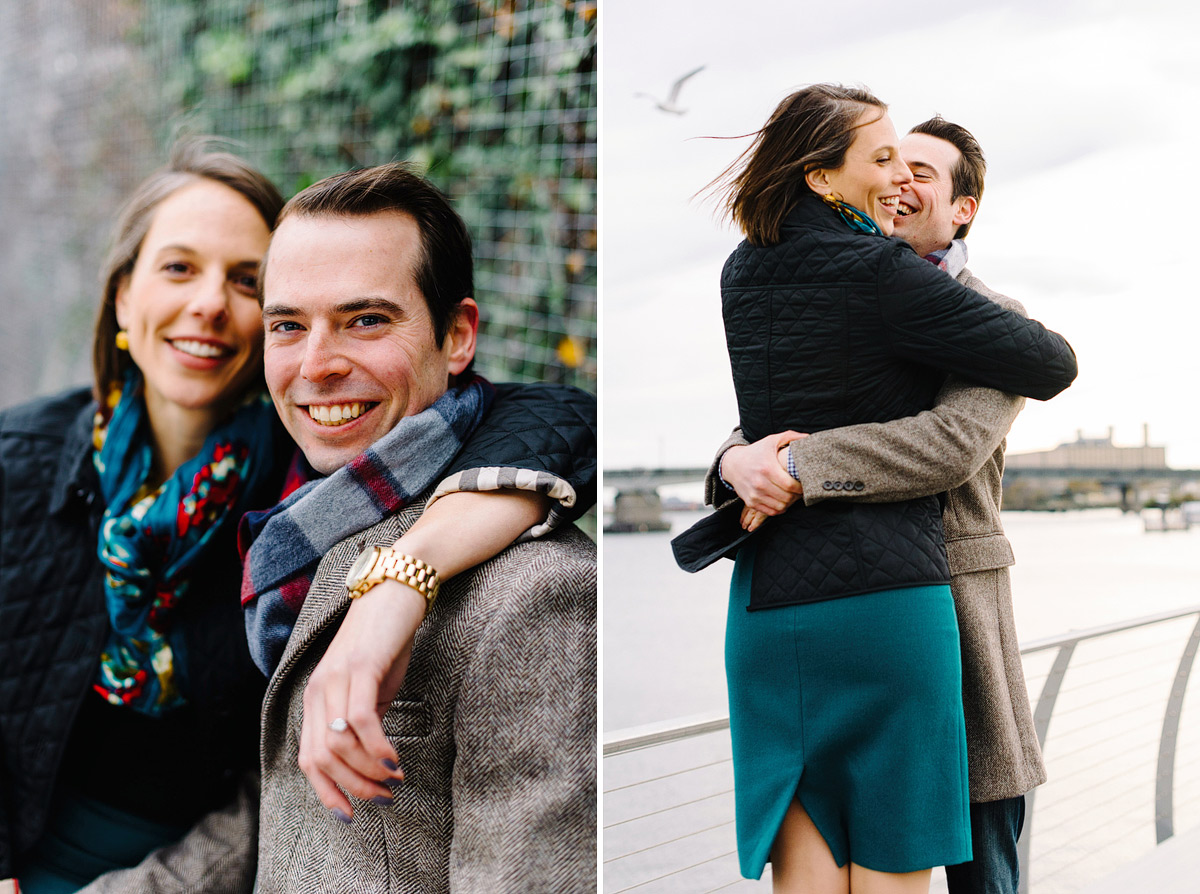 engagement shoot at yards park