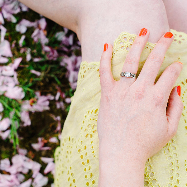 Cherry Blossom Engagement Season in Connecticut